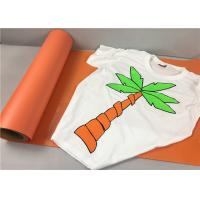 Cheap Sticky Orange Flock Heat Transfer Vinyl 50cm*25m 27 Yards For Cutting Small Letter for sale