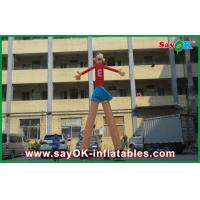 China Red Cartoon Advertising Air Dancers Printing Attractive 5m High For Supermarket on sale
