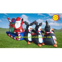 Cheap Christamas Events Advertising Inflatable Santa Claus ,  Polyester Cloth Holiday Inflatables for sale