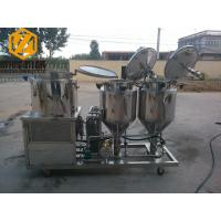 China 2 - 4 Vessels Home Brewing Equipment Flexible / Steel Auger Malt Milling Unit on sale