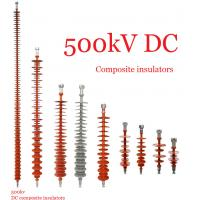 Cheap Composite Polymeric Silicone Rubber Insulator 500kv Creepage Distance 17600mm wholesale