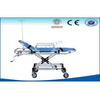 Cheap Hospital Ambulance Stretcher Trolley , Rise-And-Fall Emergency Bed for sale