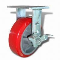Cheap Plastic-core Polyurethane Heavy-duty Caster with Load Capacity Varies from 100 to 220kg for sale