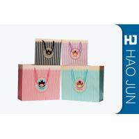 Cheap Color Printed Cardboard Shopping Bags , Fashional Paper Carry Bags for sale