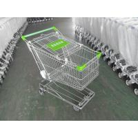 Buy cheap 125L Supermarket Shopping Cart Zinc Plating 4 Inch Rubber Wheel from Wholesalers