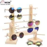 Cheap Countertop Colorful Waterproof Acrylic / Wood Sunglasses Display Rack for sale