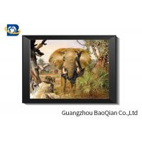 Cheap Flip Effect Lenticular Image 40 x 40 cm , 3D Lenticular Printing Pictures Elephant Theme for sale