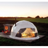Cheap 7M Camping Clear Geodesic Dome Tent With Insulation for sale