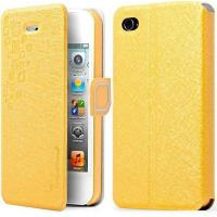 2014 hot selling iron man case for iphone 4/4s Made of high quality PU leather .