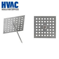 Cheap CHINA Galvanized Steel 12GA/14GA 2.7mm  Perforated Base pins Insulation Hangers insulation materials SUPPLIER for sale