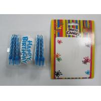 Quality Eco - Friendly Blue Shine Gold Birthday Candles / Birthday Wax Craft Candles wholesale