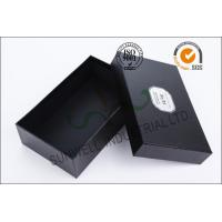China Black Luxurious Leather Belt Corrugated Packaging Boxes Custom Logo Printed on sale