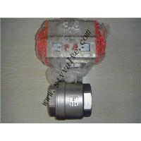 China CE approved 2pc screwed stainless steel ball valve with pneumatic actuator on sale