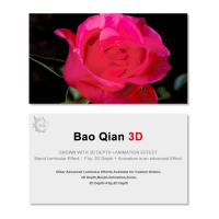 Cheap 0.6mm Thickness 89x68mm 3D Lenticular Card 3D Flip Changing Effect for sale