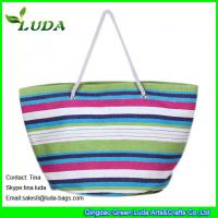 Cheap large paper straw beach shopping bags for sale