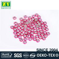 Cheap Round Shape Rimmed Rhinestones Glass / Alloy Material 12 - 14 Facets for sale