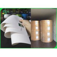 FSC Bleached Kraft Paper Rolls 36 Inch 80gsm 120gsm White Wrapping Paper
