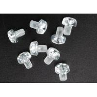 Buy cheap Clear Plastic Phillips Round Head Metric Micro Screws For Electronics M3 X 5 from wholesalers
