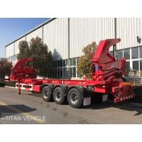 Cheap 37 ton 40ft  Container Side Loader Trailer , Self Loading Container Trailer for sale