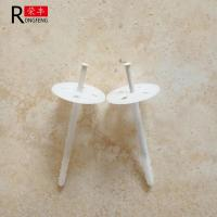 China White HDPE Plastic Insulation Fixings , Rigid Insulation Nails Custom Length on sale