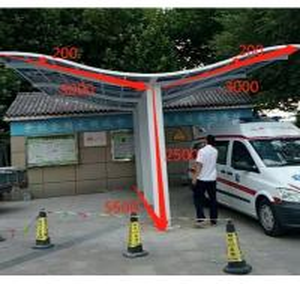 Cheap Sturdy Double Cantilever Aluminum Carport / Gazebo Polycarbonate Roof for sale