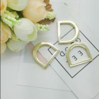 Cheap Fashion Handbag Rings Hardware , Metal Strap Loop Gold D Rings For Bags for sale