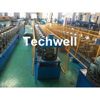 Cheap Forming Material PPGI , Aluminum Gutter Roll Forming Machine With Forming Speed 0-15m/min for sale