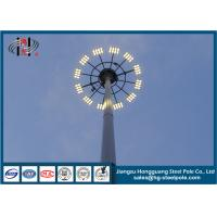 China Polygonal Steel Tubular Flood Light Poles , Stadium Lighting Pole on sale