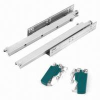 Cheap Full Extension Self Closing Concealed Drawer Slides/Runner, Made of Zinc and Galvanized Steel for sale