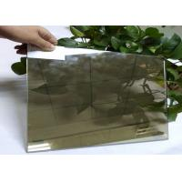Tinted Bronze Laminated Glass Curtain Wall , Structural Reflective Double Glazing