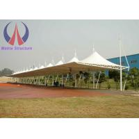 Cheap Metal Membrane Tensile Car Parking Shades Net , Lightweight Parking Cover Structures wholesale