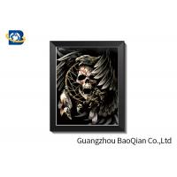 Cheap ODM 3D Picture Lenticular Printing Skull With Frame Deep Effect 0.65 mm PET Material for sale