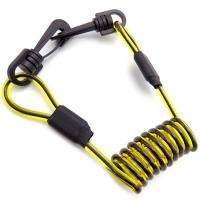 Buy cheap Yellow Clear PVC Coated Black PU Coil Plastic Tool lanyard With Plastic Swivel Snap Hook from wholesalers