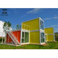 China Art Decorative Prefabricated Container House , Vacation Prefab Sea Container Homes on sale