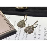Cheap Glamorous 18K Gold Diamond Earrings For Company Annual Meeting / Party for sale