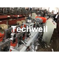 Cheap PU Foam Rolling Shutter Door Slat Roll Forming Machine With 0-15m/min Forming Speed , Gearbox Drive Type for sale