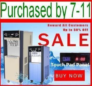 Cheap Touch Pad.Remote control Ice Cream Machine/Frozen Yogurt machine/Maquina de helado for sale