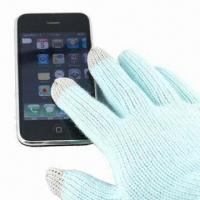 Cheap Touch Gloves for I phone, Made of 100% Acrylic, Available in Various Colors for sale