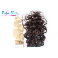 Cheap Bright Red / White 14 Inch Clip In Hair Extension Brazilian Body Wave Hair Bundles wholesale