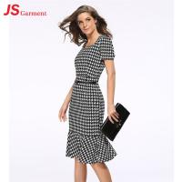 Cheap Slim Package Hip Elegant Office Dresses Fishtail Evening Pencil With Free Belt for sale