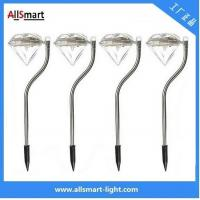 Buy cheap RGB color Stainless Steel solar powered stake garden lights for pot plant from wholesalers