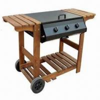 Cheap Big Size Trolley Gas BBQ Grill, Measures 26 x 19.5-inch for sale