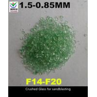 Cheap Angular Shaped Recycled Crushed Glass Grit Cut Through Rust / Paint And Oil for sale