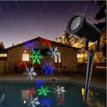 Laser Light Projector Indoor Outdoor Stage Landscape Lawn Garden Snowfakes 6 LED