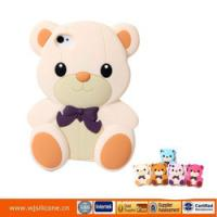 Cheap Wholesale Price hot cute bear shaped silicon 3d case for iphone 4 4s for sale
