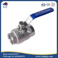 Cheap High quality 2 pcs thread connection flat lever handle cf8m stainless steel water gas ball valve for sale