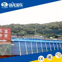 China PVC Large square Metal Frame Pool / above ground pools on sale