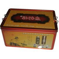 Cheap medicinal liquor promotional gift sets packed in metal box for sale