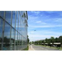Cheap Large Aluminium Double Glazed Curtain Walls With Blue Lowes Glass for sale