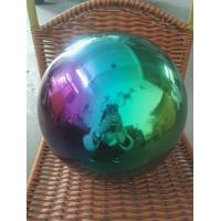China Colorful plating stainless steel hollow ball  Decorative ball 200mm  300mm on sale